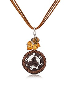 Chocolate Cake Pendant w/Lace - Dolci Gioie