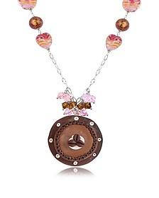 Sterling Silver Chocolate Cake Necklace - Dolci Gioie