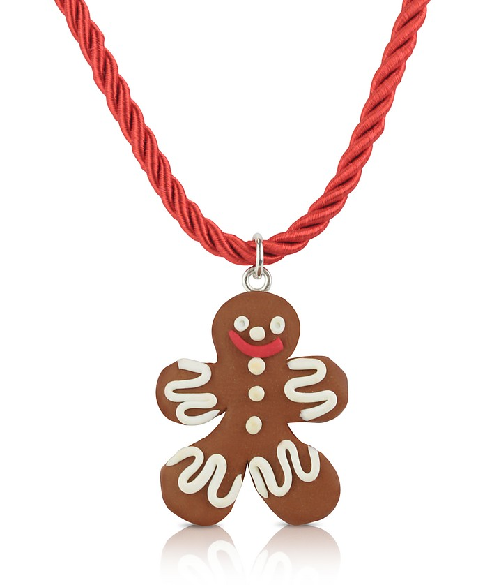 Medium Gingerbread Man Necklace - Dolci Gioie