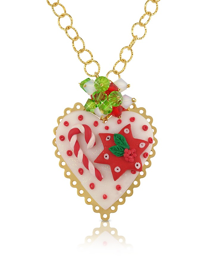 Christmas Heart Necklace - Dolci Gioie