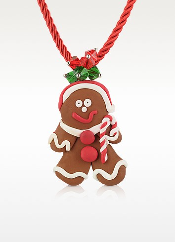 Gingerbread Man Necklace - Dolci Gioie