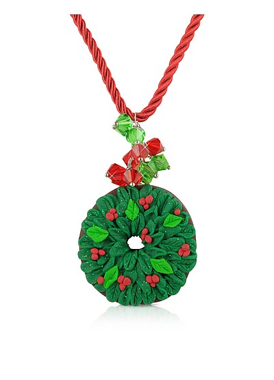 Christmas Wreath Necklace - Dolci Gioie