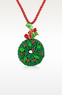 Christmas Wreath Necklace - Dolci Gioie