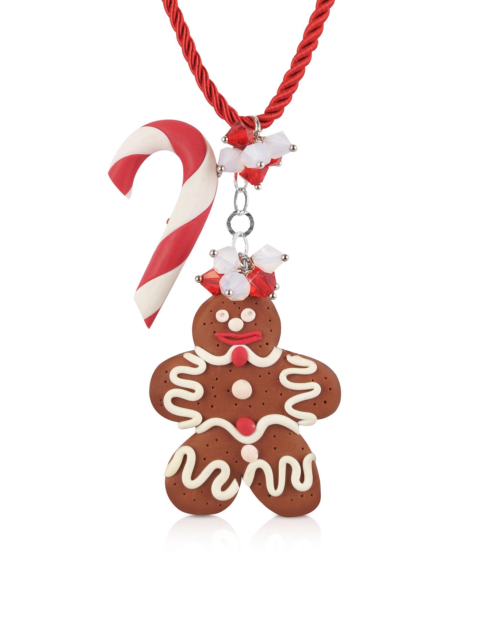 Candy Cane & Gingerbread Man - Ожерелье