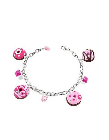 Dolci Gioie - Sterling Silver Donut Charm Bracelet