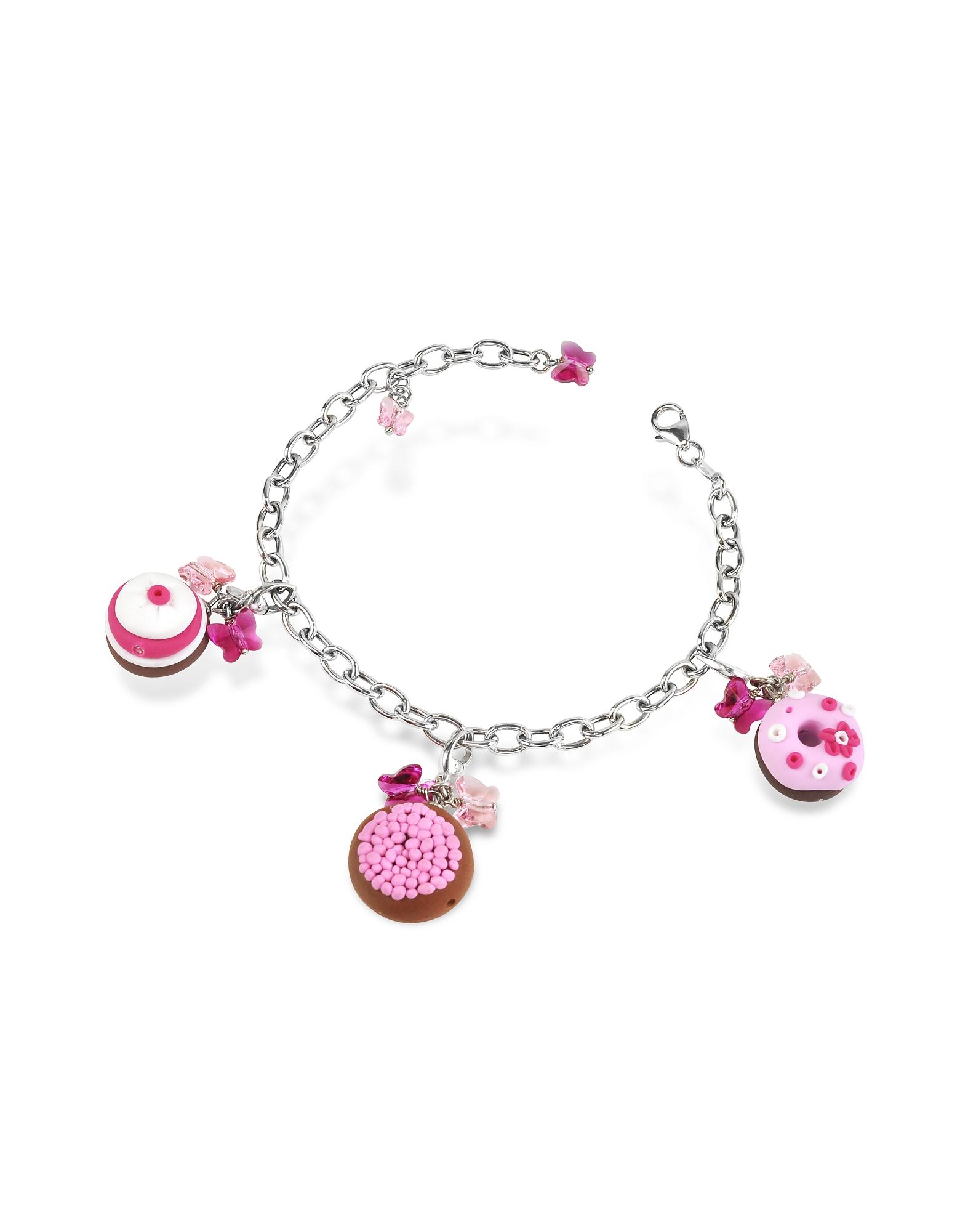 Dolci Gioie Bracelets, Sterling Silver Detachable Charm Bracelet