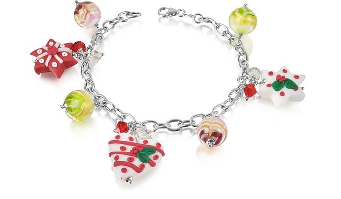 Christmas Hearts and Stars Bracelet - Dolci Gioie