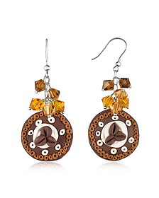 Chocolate Cake Earrings - Dolci Gioie