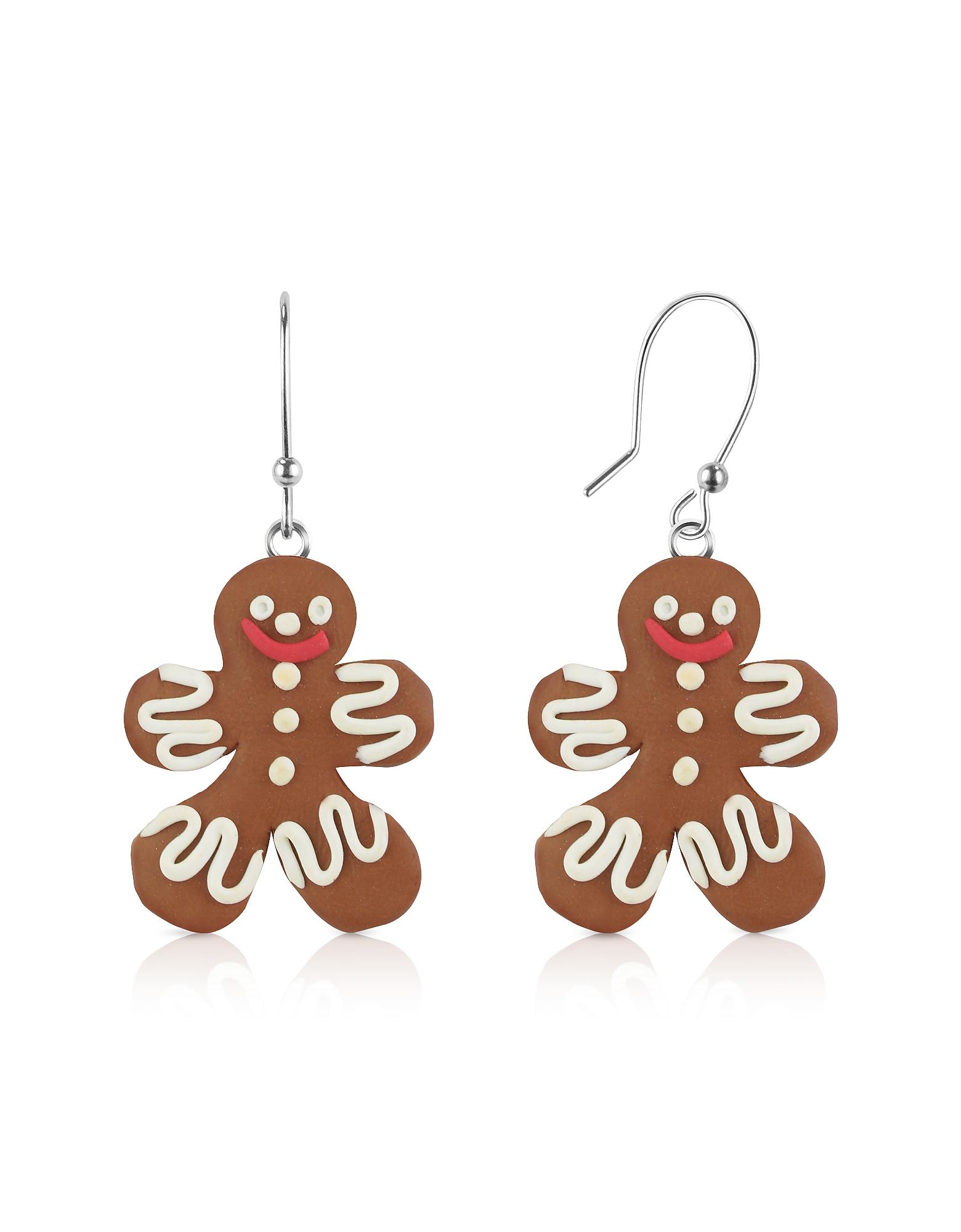 Gingerbread Man - Серьги из Японской Глины