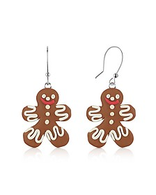 Gingerbread Man Earrings - Dolci Gioie