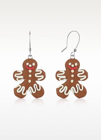 Gingerbread Man Earrings - Dolci Gioie