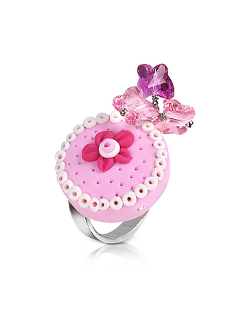 Sterling Silver Cake Charm Ring