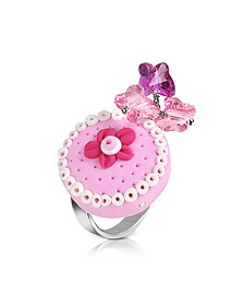 Sterling Silver Cake Charm Ring - Dolci Gioie