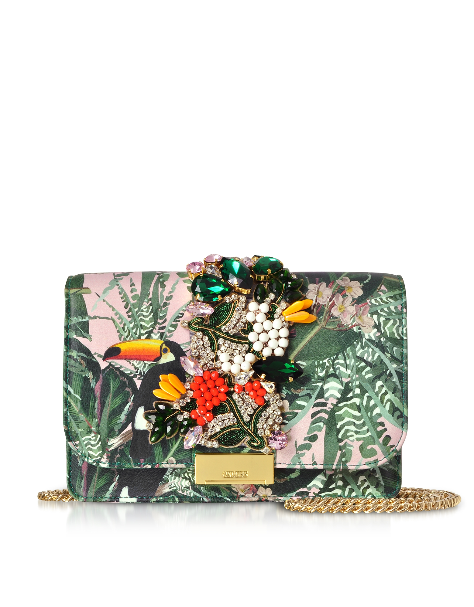 Cliky Pink Toucan Clutch