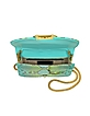 Clicky Turquoise and Green Python Leather Clutch - Gedebe