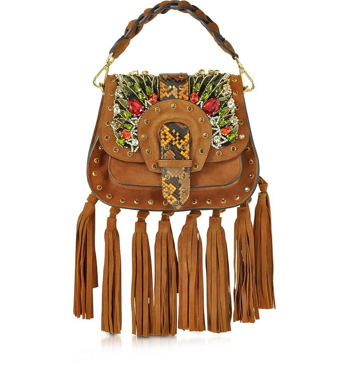 Alice Small Camel Suede Handbag - Gedebe