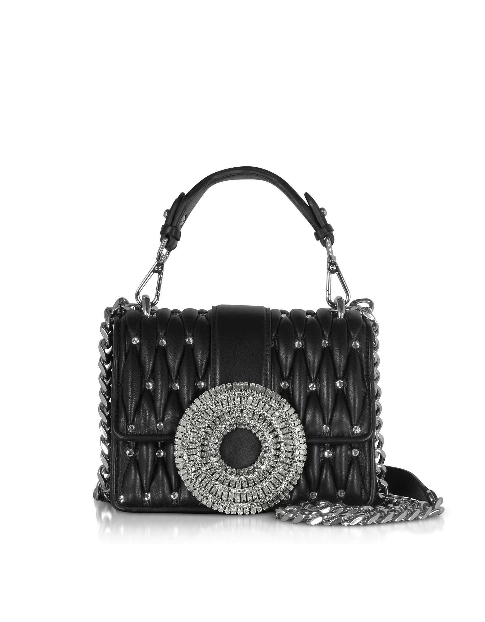 Gio Small Nappa Leather & Crystal Handbag