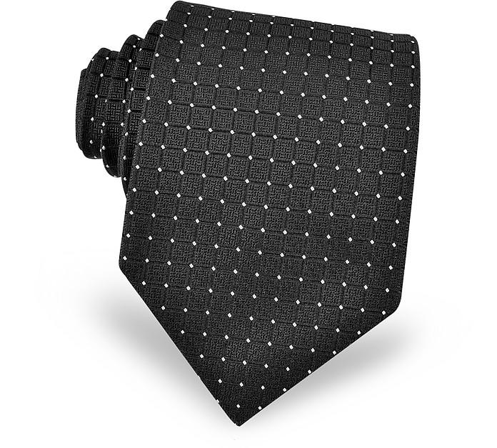 Mini Dots Black Silk Tie - Dolce & Gabbana