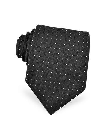 Dolce & Gabbana Cravate en soie noire à petits pois