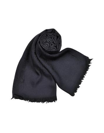 Dolce & Gabbana Signature Patterned Wool and Silk Long Scarf
