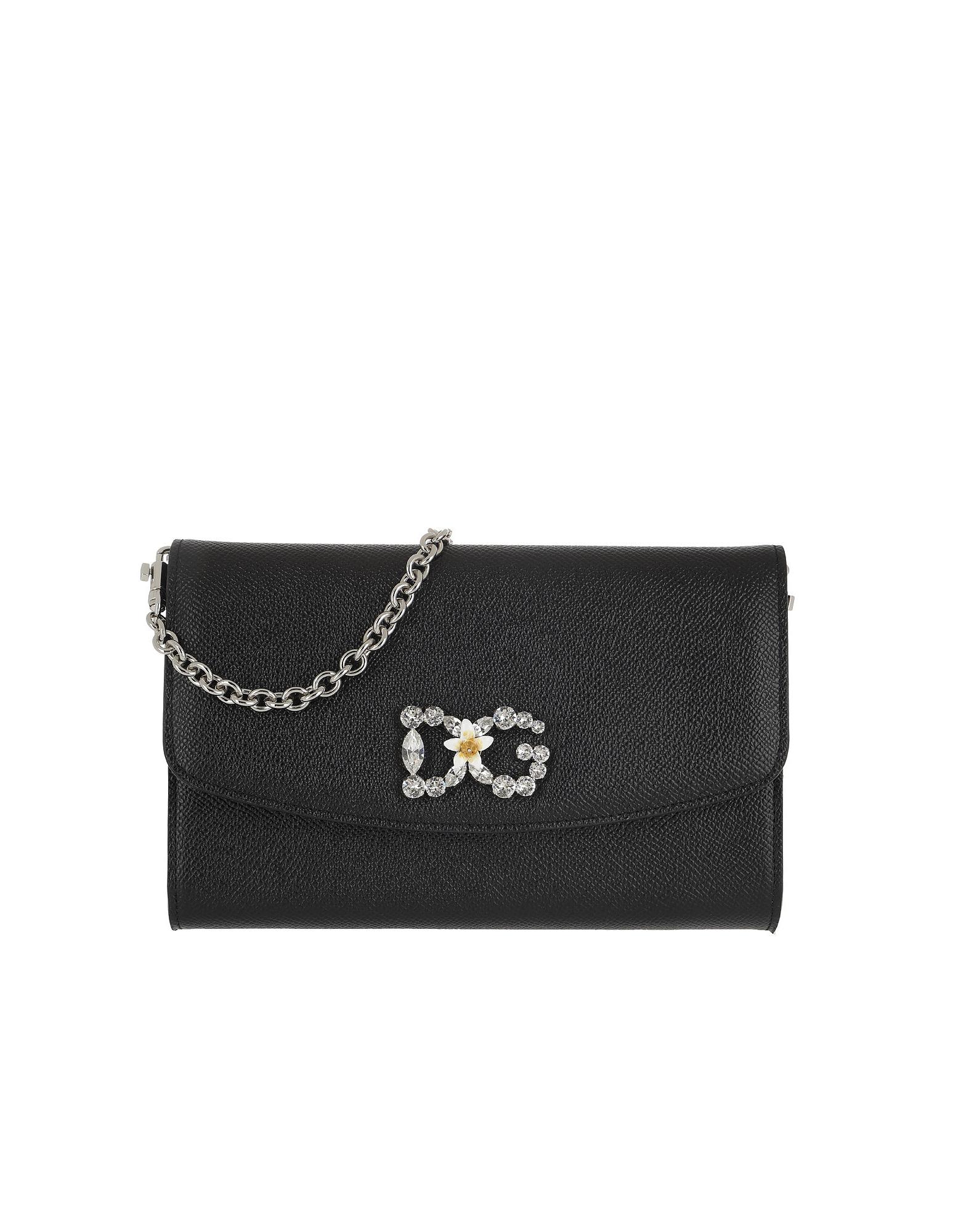 Dolce & Gabbana Handbags, St. Dauphine Logo Wallet Nero