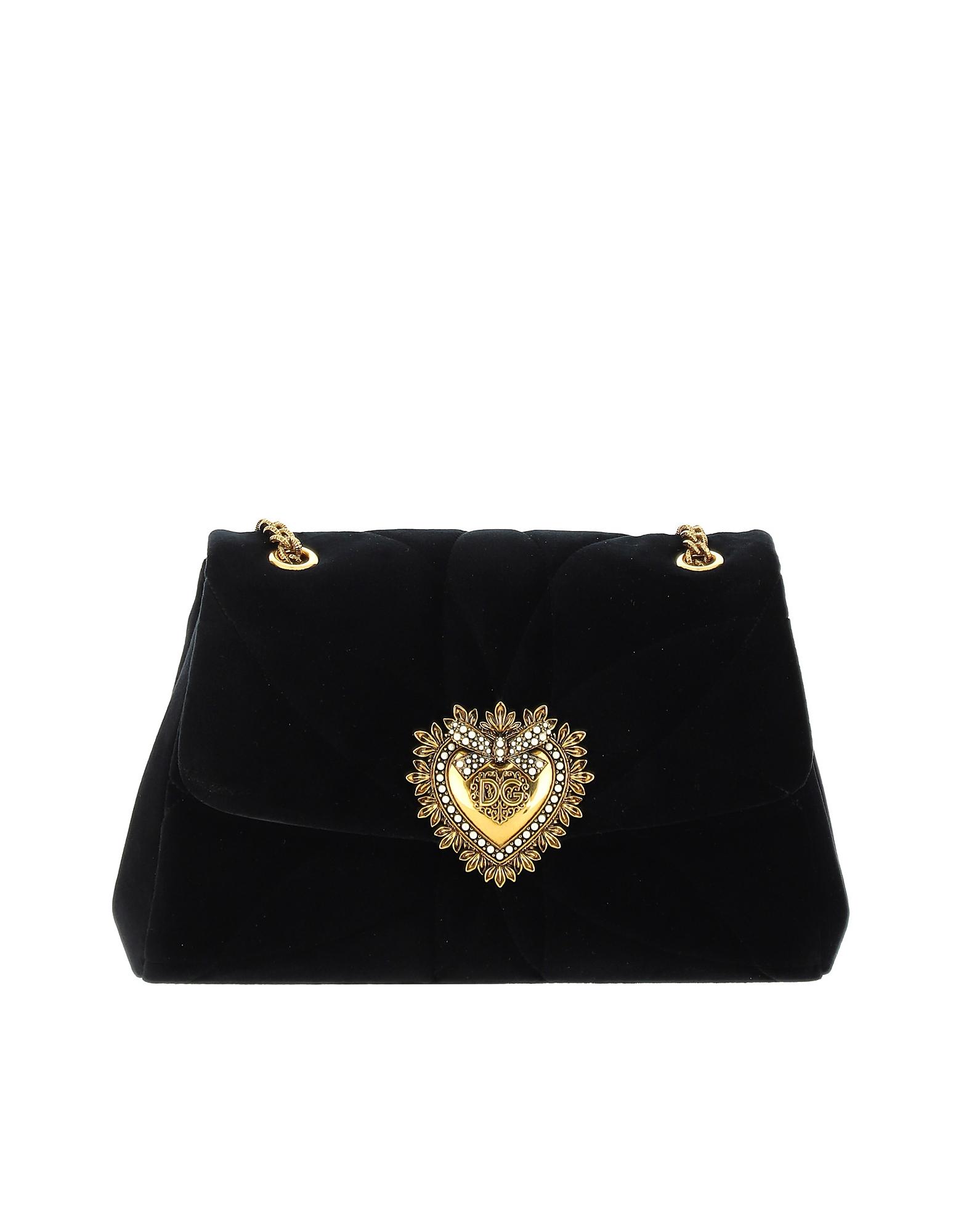 Dolce & Gabbana Designer Handbags, Black And Grey shoulder