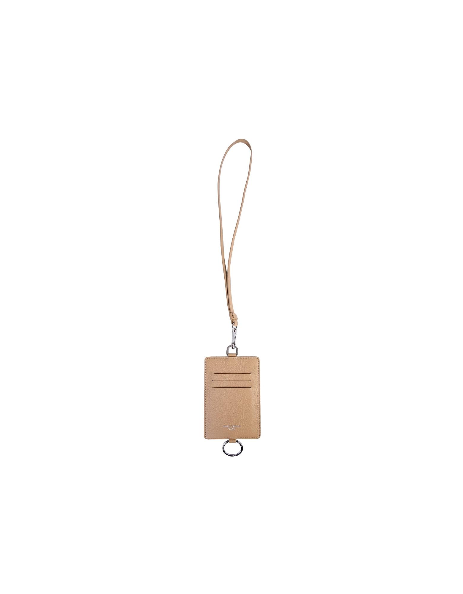 Dolce & Gabbana Designer Men's Bags, Logo Card Holder With Shoulder Strap