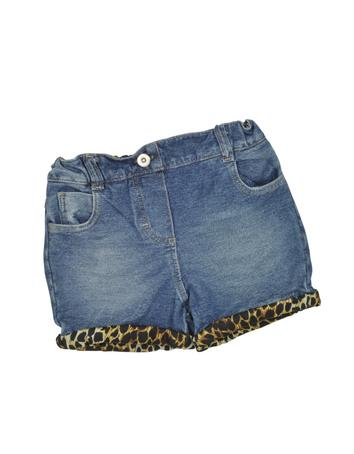 Denim Effect Cotton Short Jeans