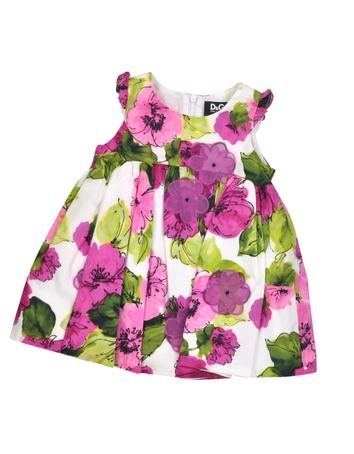 Floral Print Cotton Dress w/Shorts