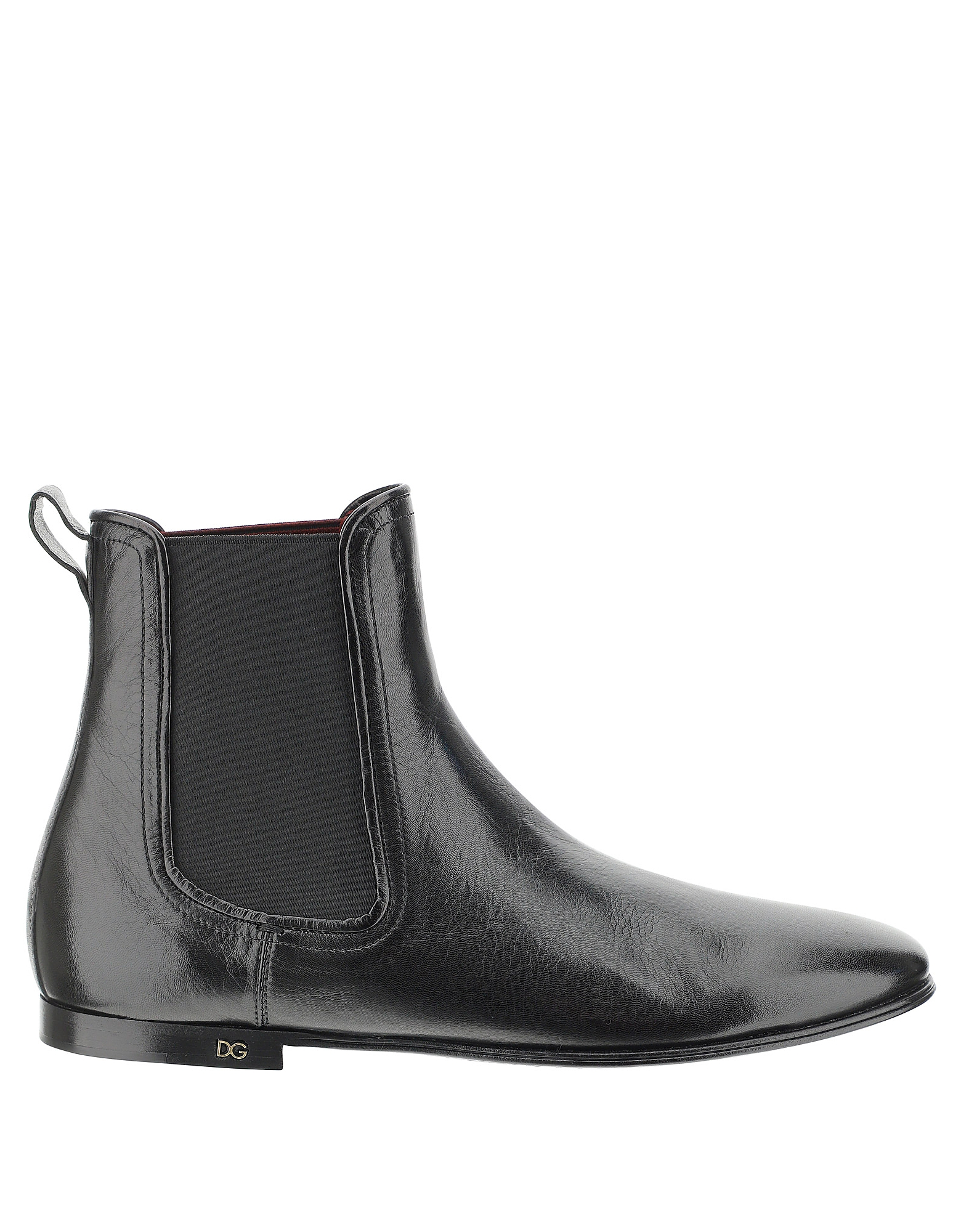 Dolce & Gabbana Designer Shoes, Black Leather Ankle Boots