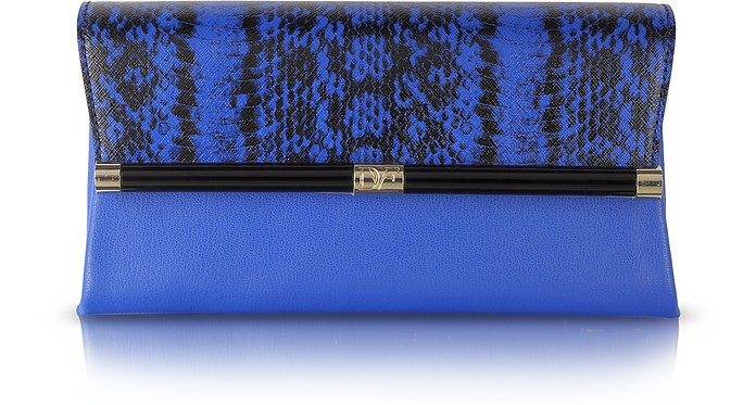 440 Envelope Printed Leather Clutch  - Diane Von Furstenberg