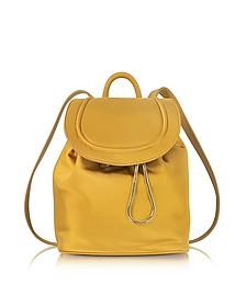 Satin Backpack w/Drawstring Flap Closure - Diane Von Furstenberg