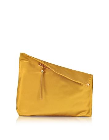 Diane von furstenberg asymetric clutch in satin con zip