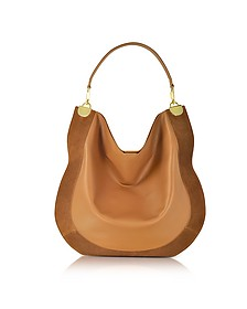Moon Whisky Leather and Suede Large Hobo Bag - Diane Von Furstenberg