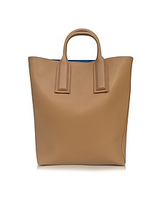 Origami Wheat Leather Tote  - Diane Von Furstenberg