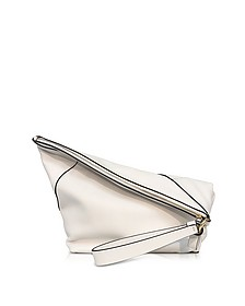 Origami Ultra White Leather Wristlet Handbag - Diane Von Furstenberg