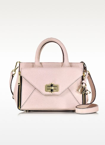 Pink Dust Shimmer Lizard Leather Mini Secret Agent Tote - Diane Von Furstenberg
