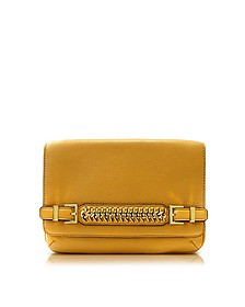 Iggy Honey Mustard Leather Clutch - Diane Von Furstenberg