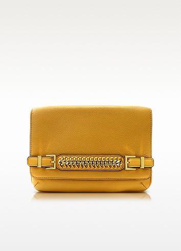 Iggy Honey Mustard Leather Clutch - Diane Von Furstenberg