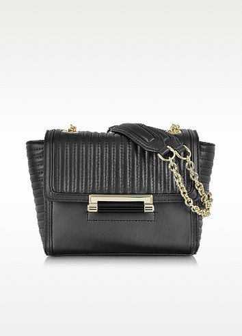 440 Mini Rail Quilt Black Leather Crossbody Bag - Diane Von Furstenberg