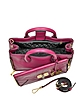 440 Gallery Double Agent Cherry Leather & Croco Print Small Tote - Diane Von Furstenberg