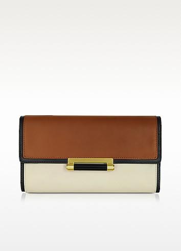 Gracie Color Block Leather Clutch - Diane Von Furstenberg