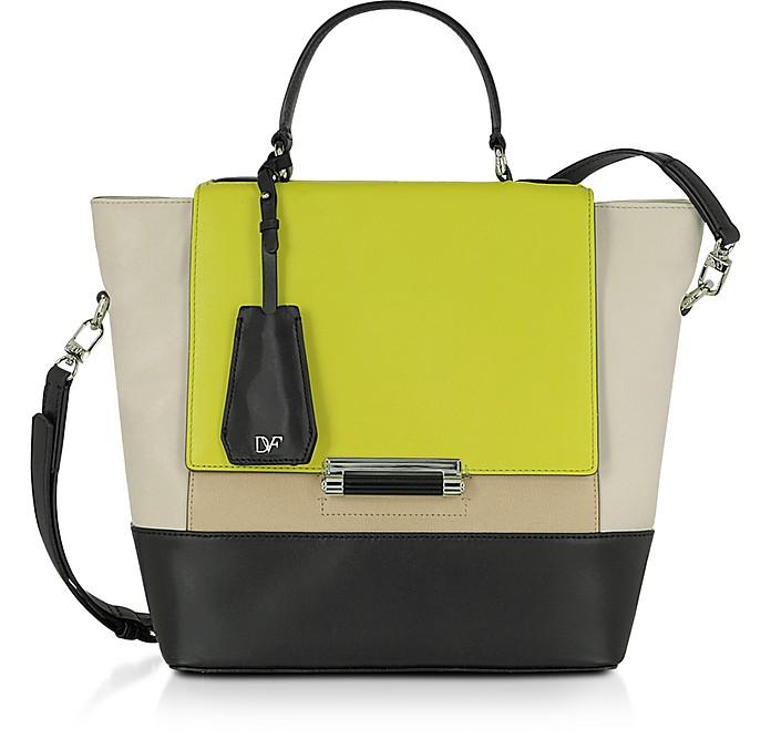 Small Top Handle Leather Satchel - Diane Von Furstenberg