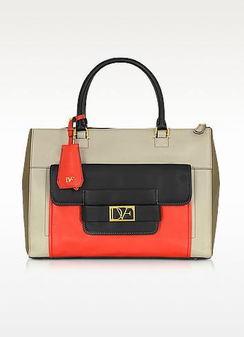 Eva Color Block Leather Tote - Diane Von Furstenberg