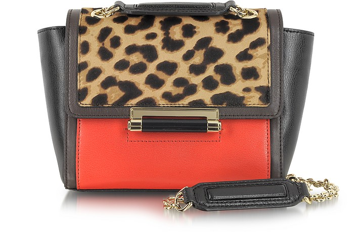440 Mini Leopard Print Haircalf Shoulder Bag - Diane Von Furstenberg