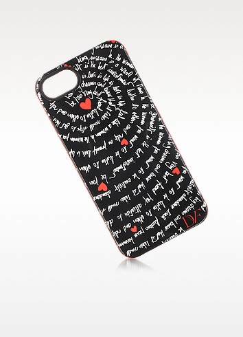 Black and Red Heart Mantras Case for iPhone 5 - Diane Von Furstenberg