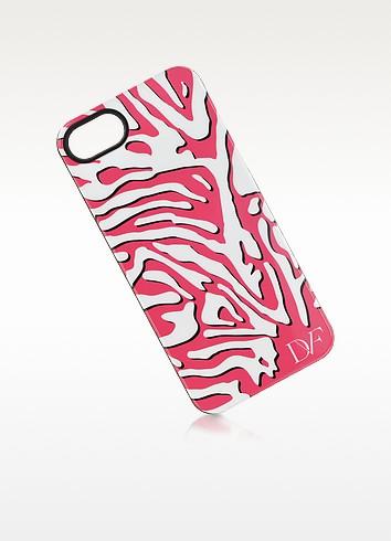 White and Pink Zebra Print Case for iPhone 5 - Diane Von Furstenberg