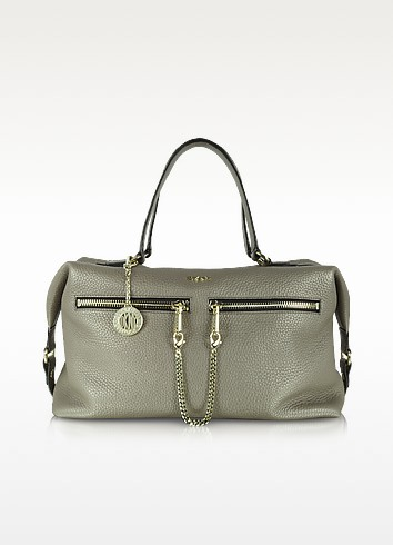 Tribeca Desert Leather Satchel - DKNY