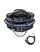 Tribeca Large Navy Blue Leather Satchel - DKNY