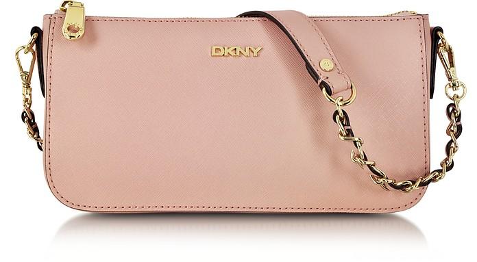 Bryant Park Blush Saffiano Leather Crossbody Bag - DKNY